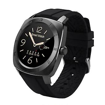 Stuff Certified® Original DM88 Smartwatch Smartphone Fitness Sport Activity Tracker Watch OLED Android iOS iPhone Samsung Huawei Black TPU