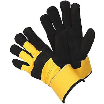 Mens XL Gardening Gloves Rigger Work Gloves Thermal Durable Leather Protection