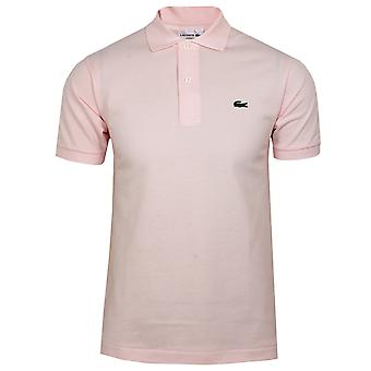 Lacoste men's light pink polo shirt