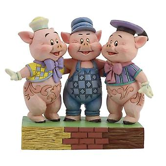 Disney Traditions Squealing Siblings Three Little Pigs Figurine