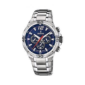 Festina F20522-3 Uomini's Chrono Bike Dark Blue Dial Wristwatch