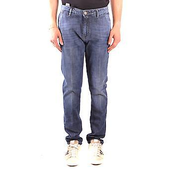 Pt05 Ezbc084059 Men's Blue Cotton Jeans