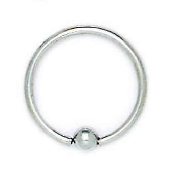 14k White Gold 16 Gauge Circular Body Piercing Jewelry Bead Ring Measures 15x15mm Jewelry Gifts for Women