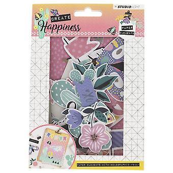 Studio Light Paper Elements Set-#648 Create Happiness (en)