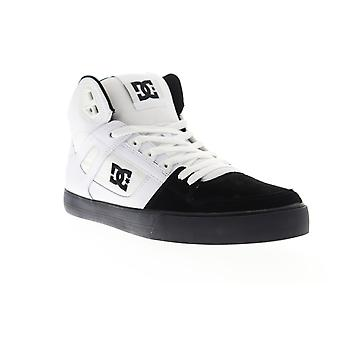 DC Pure High Top WC  Mens White Suede Mid Top Skate Sneakers Shoes
