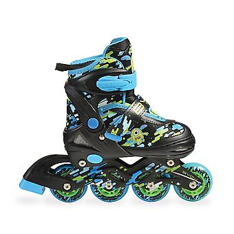 Byox Inliner Roller skates Zax 2 adjustable in 1 blue size S, M or L PU wheels