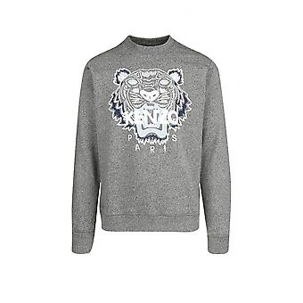 Kenzo Classic Tiger bestickt Logo grau Sweatshirt