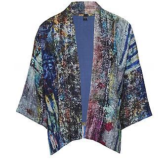 Yavi Silk Splash Print Jacket