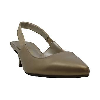Anne Klein Womens Akaileen Leather Pointed Toe Formal Slingback Sandals