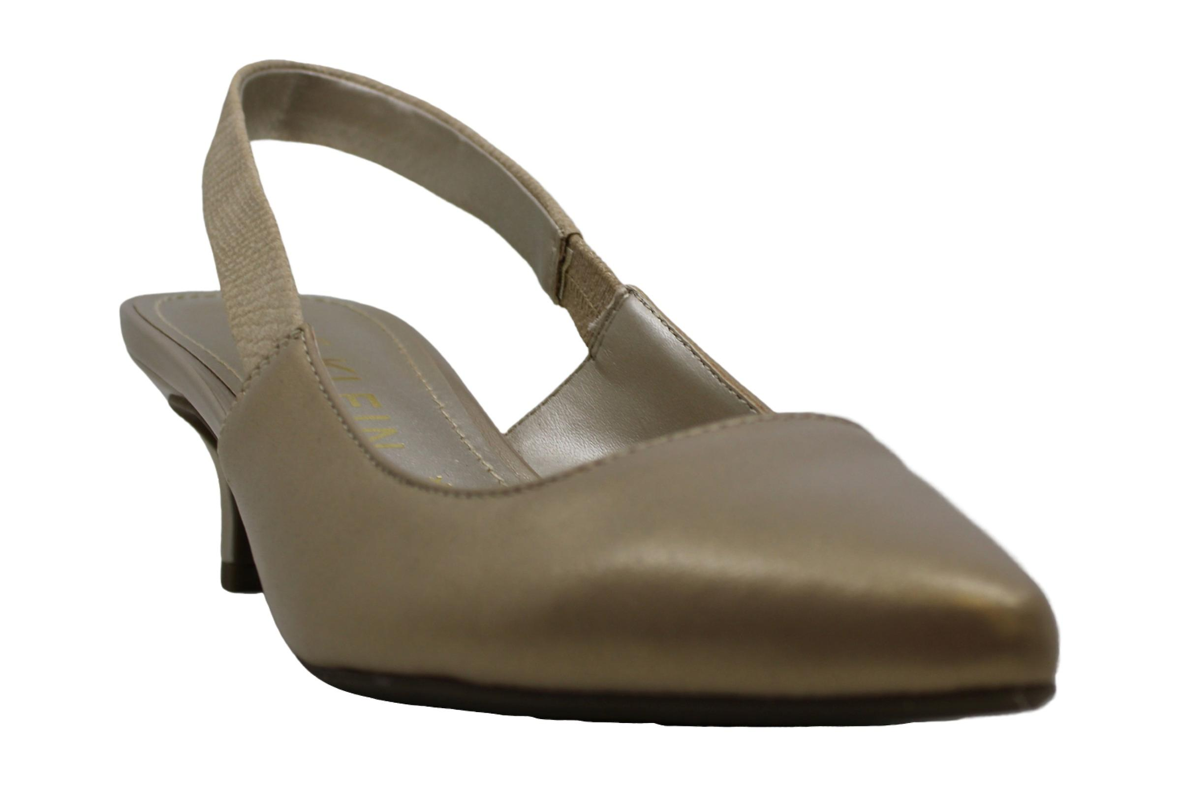 Anne Klein Womens Akaileen Leather Pointed Toe Formal Slingback Sandals egyZC