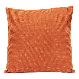 Quadratische verbrannt orange Tweed strukturierte werfen Kissen
