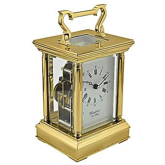 Woodford Strike Movement Carriage Clock - Gold