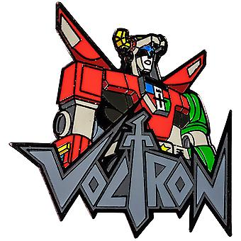 Voltron Bust with Logo Enamel Pin