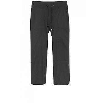 Yest Black Cropped Trousers