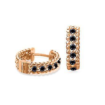 Cercei Vanity Black Diamonds și 18K Gold