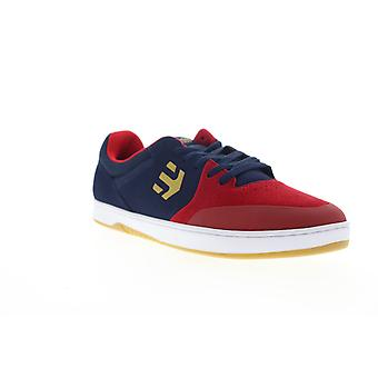Etnies Marana Mens Red Blue Suede Low Top Lace Up Skate Sneakers Shoes