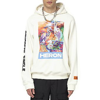Reiger Preston Hmbb007s208960212688 Heren's White Cotton Sweatshirt