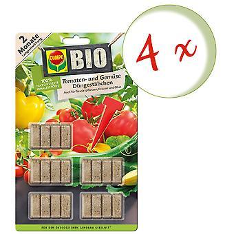 Sparset: 4 x COMPO ORGANIC tomato and vegetable fertilizer sticks, 20 pieces