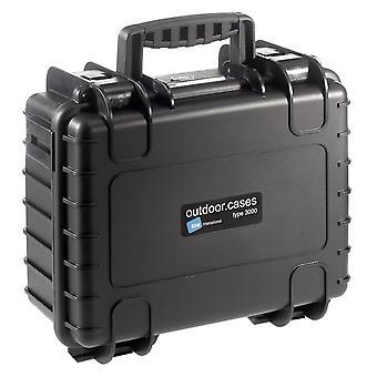 B&W Outdoor Case Typ 3000, Leer, Schwarz