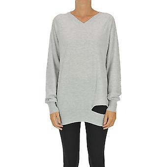 Maison Margiela Ezgl038125 Women's Grey Cashmere Sweater