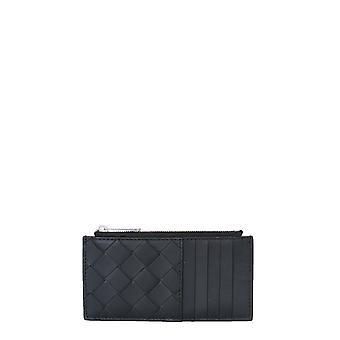 Bottega Veneta 591379vcpq38803 Men's Black Leather Wallet