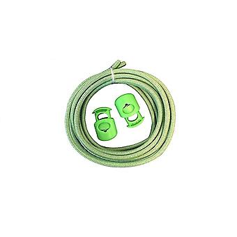 Sof Sole Riflettente ElasticNo Tie Shoelaces con lace Lock - Verde