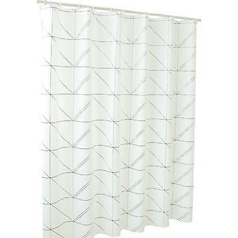 ヤンファン 防水 PEVA 三角形のホワイト シャワー カーテン