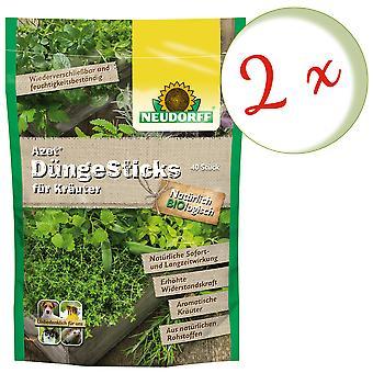 Sparset: 2 x NEWDORFF Azet® FertilizerSticks for herbs, 40 sticks