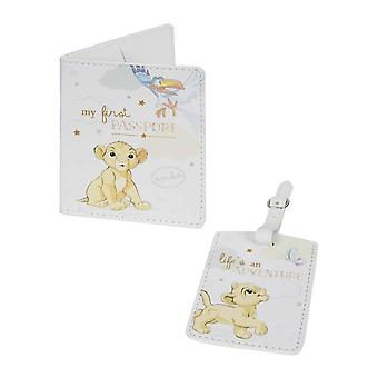 Disney Baby Magic Beginnings Simba Passport Cover and Luggage Tag