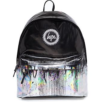Hype Holographic Drips Backpack Bag Black 79