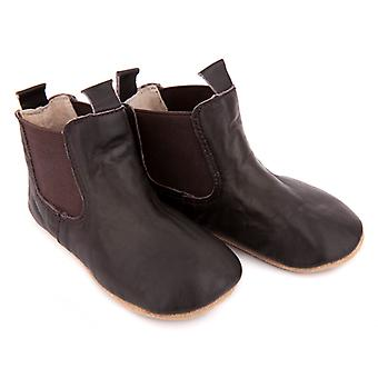 SKEANIE Pre-walker Baby & Toddler Riding Boots in Chocolate Brown