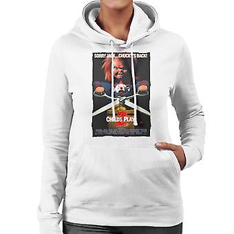 Chucky Childs spelen 2 Sorry Jack Chucky is terug vrouwen ' s Hooded Sweatshirt