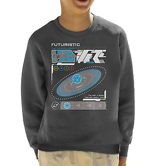 Krystal labyrinten futuristisk grænseflade kid ' s sweatshirt