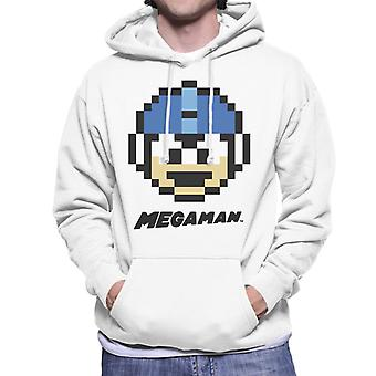 Mega Man Pixel Face Men's Hooded Sweatshirt