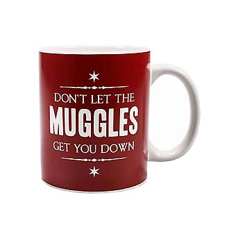Harry Potter Mug Dont let the Muggles get you Down new Official White Boxed
