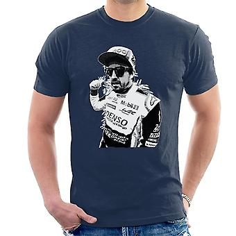 Motorsport Images Fernando Alonso Circuit De La Sarthe Men's T-Shirt