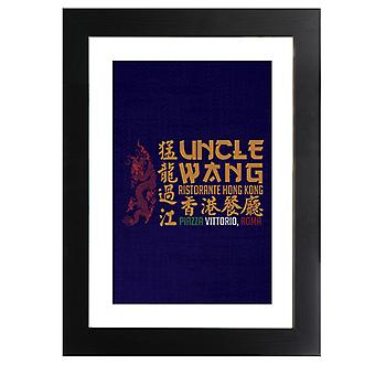 Uncle Wang Ristorante Way Of The Dragon Framed Print