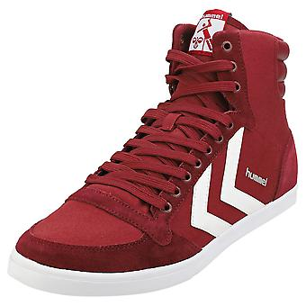 hummel Slimmer Stadil High Mens Casual Trainers in Burgundy