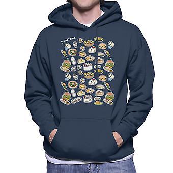 Gudetama Mat Montasje Menn's Hette Sweatshirt