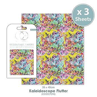 Craft Consortium Kaledascope Flutter Decoupage Papers