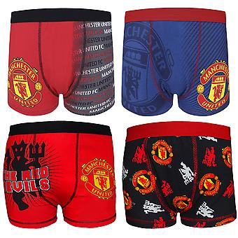 Manchester United FC Official Football Gift 1 Pack Boys Boxer Shorts