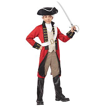 British Redcoat Army Soldier Military Historical Colonial Boys Costume