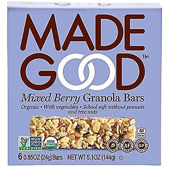 Made dobrý zmiešané Berry Granola bary