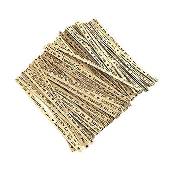 700PCS Baking Package Kraft Paper Wire Purple