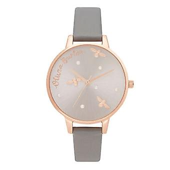 Olivia Burton Watches Ob16pq03 Pearly Queen Vegan London Grey & Rose Gold Ladies Watch