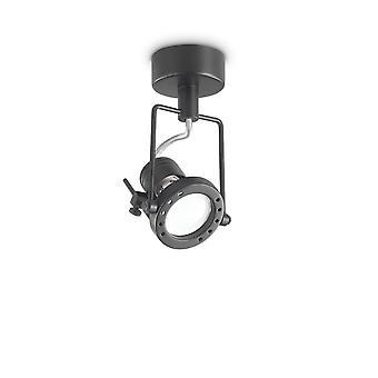 Ideal Lux SLIDE - Indoor 1 Light Deckenleuchte Spotlight Schwarz, GU10