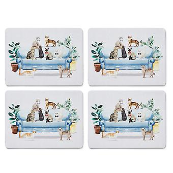 Cooksmart Curious Cats Set of 4 Placemats