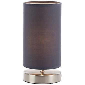 BRILLIANT Lampe Klarning Bordlampe Jern / Grå | 1x D45, E14, 40W, egnet til faldlygter (ikke inkluderet) | Skala