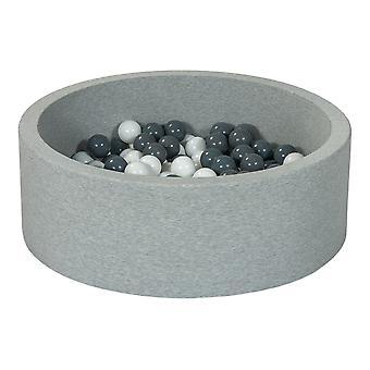 Ball pit 90 cm z 200 kulkami biały i szary