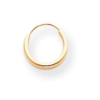 14k Yellow Gold Hollow Polished Endless Hoop Earrings Measures 9x9mm Jewelry Gifts for Women